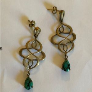 Eddera brand Turquoise Drop Earrings